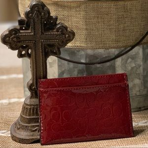 Red Coach Credit Card Holder